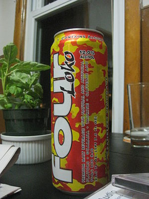 English: One 23.5 ounce can of the Four Loko a...