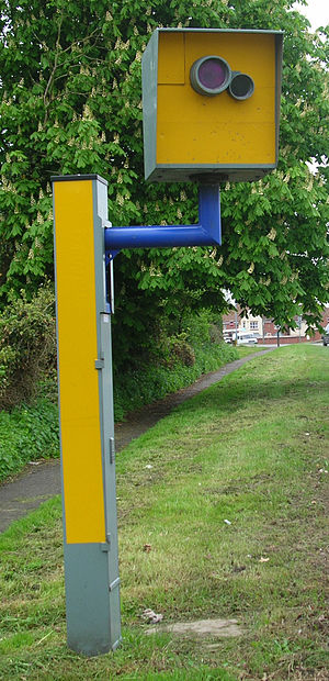 Truvelo speed camera on UK dual carriageway