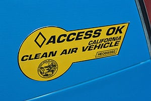 California Clean Pass vehicle