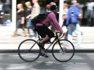 Cyclist in New York City