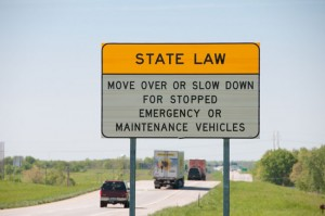 New York Move Over Law warning sign