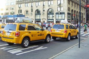 Taxis in Manhattan