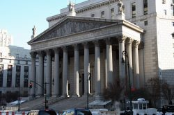 Image of the Court of justice building in New York City.