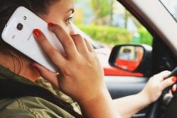 getting ticket for cell phone while driving