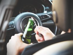 open alcohol in car
