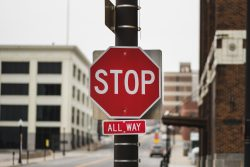 running stop sign