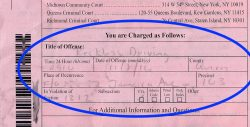 reckless driving ticket charges