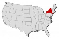 map of USA with NY highlighted