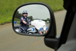 Police officer on his motorcycle